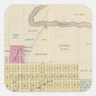 Oswego, Neosho Falls, Havens, and Butler, Kansas Square Sticker
