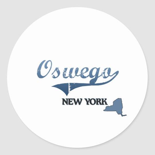 Oswego New York City Classic Classic Round Sticker