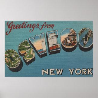 Oswego, Nueva York - escenas grandes de la letra Poster