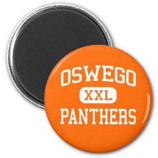Oswego - panteras - High School secundaria - Osweg Imán Redondo 5 Cm