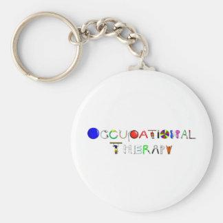 OT at Work Basic Round Button Keychain