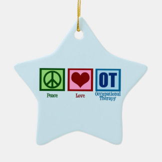 OT Blue Ceramic Ornament
