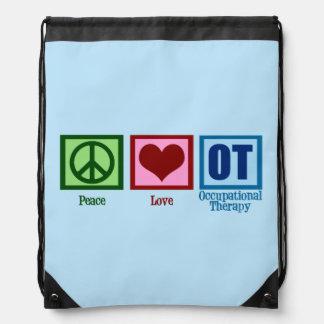 OT Blue Drawstring Backpack