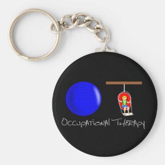 OT Initials Basic Round Button Keychain