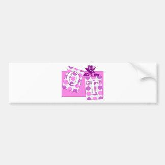 ot letter blocks pink purple bumper sticker