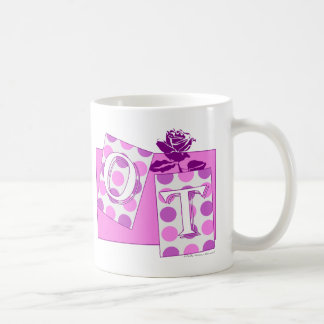 ot letter blocks pink purple coffee mug