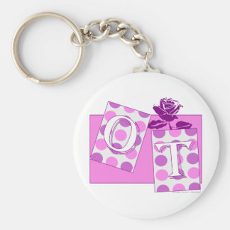 ot letter blocks pink purple keychain