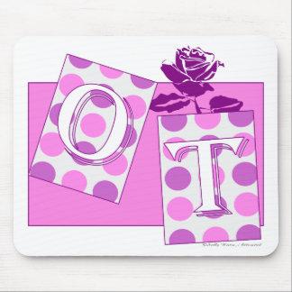 ot letter blocks pink purple mouse pad