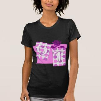 ot letter blocks pink purple shirts