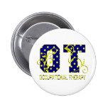 ot letters blue and yellow pins