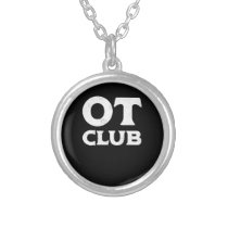 OT Life Occupational Therapy Therapist Silver Plated Necklace