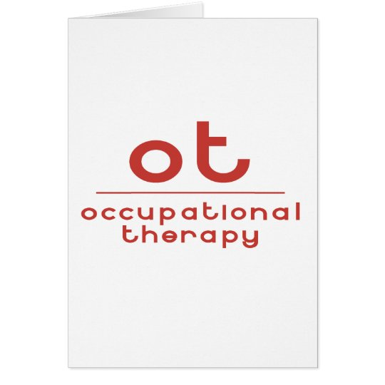 OT Occupational Therapy Card