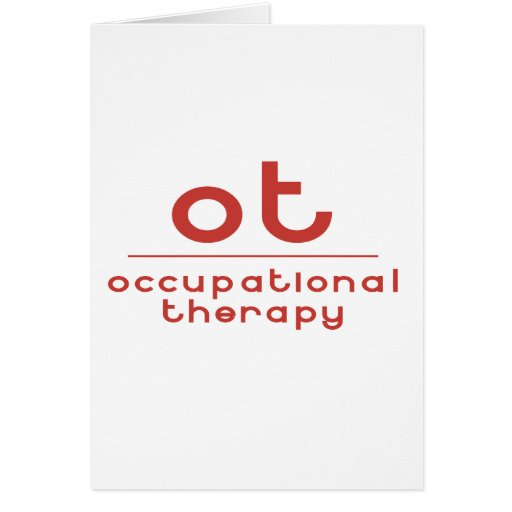 OT Occupational Therapy Cards
