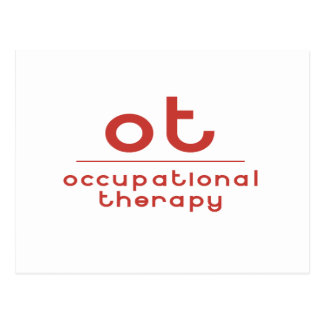 OT Occupational Therapy Postcard