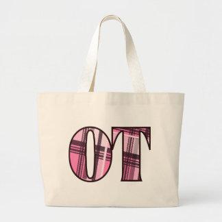 ot pink and black jumbo tote bag