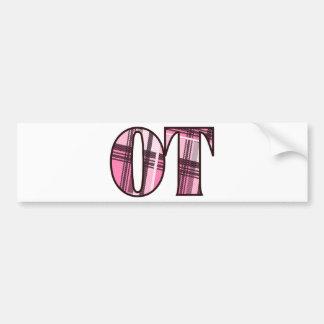 ot pink and black bumper sticker