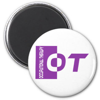 ot purple 2 inch round magnet