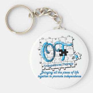 ot puzzle aqua basic round button keychain