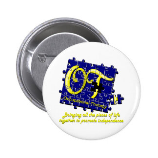 ot puzzle blue and gold pinback button