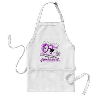 ot puzzle purple adult apron