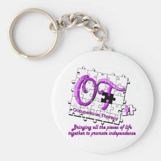 ot puzzle purple keychain