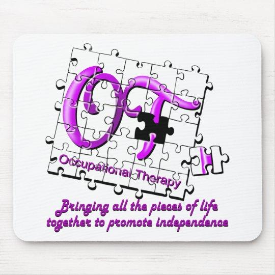 ot puzzle purple mouse pad
