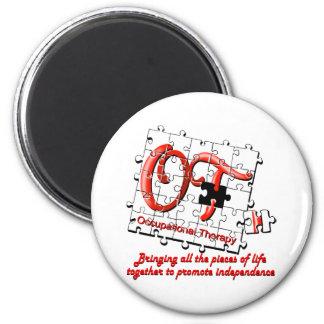 ot puzzle red 2 inch round magnet