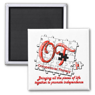 ot puzzle red 2 inch square magnet