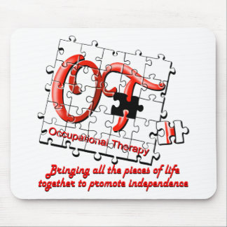 ot puzzle red mouse pad