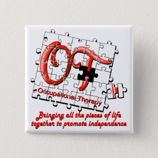 ot puzzle red pinback button