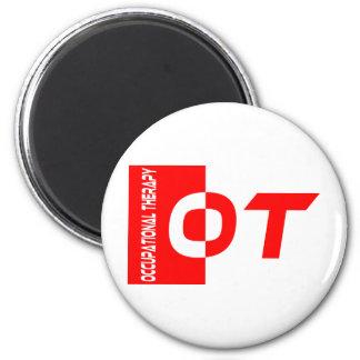 ot red 2 inch round magnet