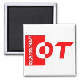 ot red 2 inch square magnet