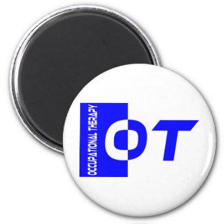 OT royal blue 2 Inch Round Magnet