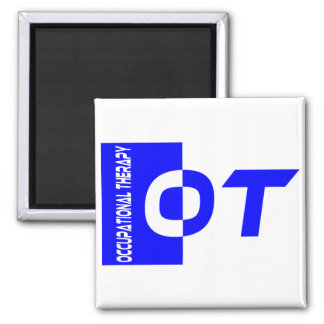 OT royal blue 2 Inch Square Magnet