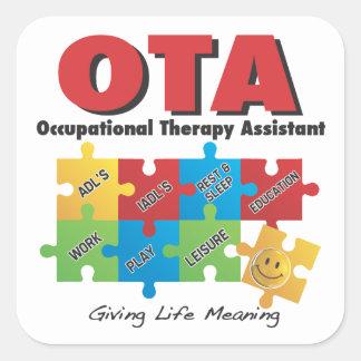 OTA - Pegatina auxiliar de la terapia profesional