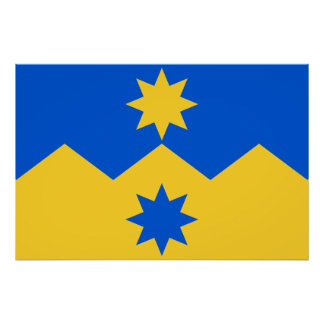 Otago, New Zealand flag Posters