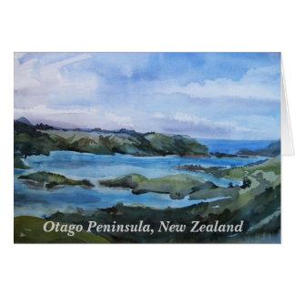 Otago peninsula, New Zealand Card