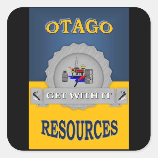 OTAGO RESOURCES SQUARE STICKERS