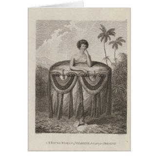 Otaheite Woman, Tahiti Greeting Card
