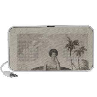 Otaheite Woman, Tahiti Notebook Speakers