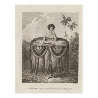 Otaheite Woman, Tahiti Post Card