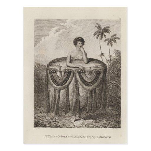 Otaheite Woman, Tahiti Postcard