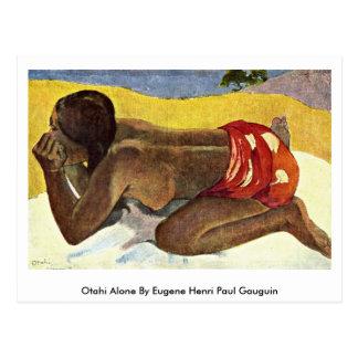 Otahi Alone By Eugene Henri Paul Gauguin Postcard