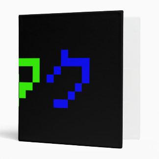 OTAKU 8 Bit Pixel Japanese Katakana Vinyl Binder