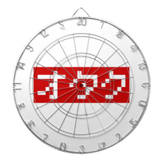 OTAKU 8 Bit Pixel Japanese Katakana BLOCK Dartboard