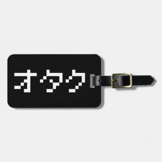 OTAKU 8 Bit Pixel Japanese Katakana Luggage Tag