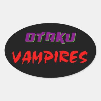 Otaku Vampires Movie Oval Stickers