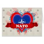OTAN del amor del vintage I Tarjeta