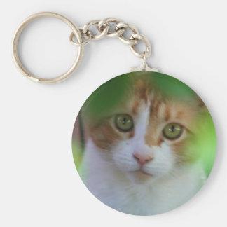 Otange Tabby Cat Keychain
