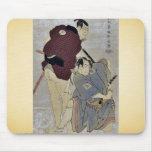 Otani Oniji e Ichikawa OmezoIby Toshusai Sharaku Alfombrillas De Raton